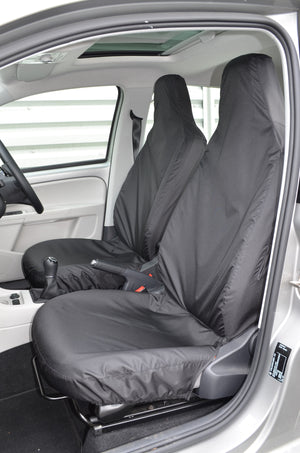 SEAT Mii 2012 Onwards Tailored Front Seat Covers Black Turtle Covers Ltd