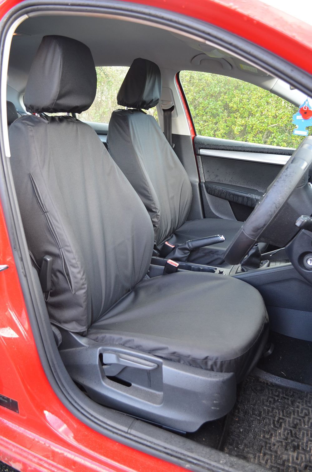 Skoda Octavia 2013+ Tailored Waterproof Front Seat Covers Black Turtle Covers Ltd