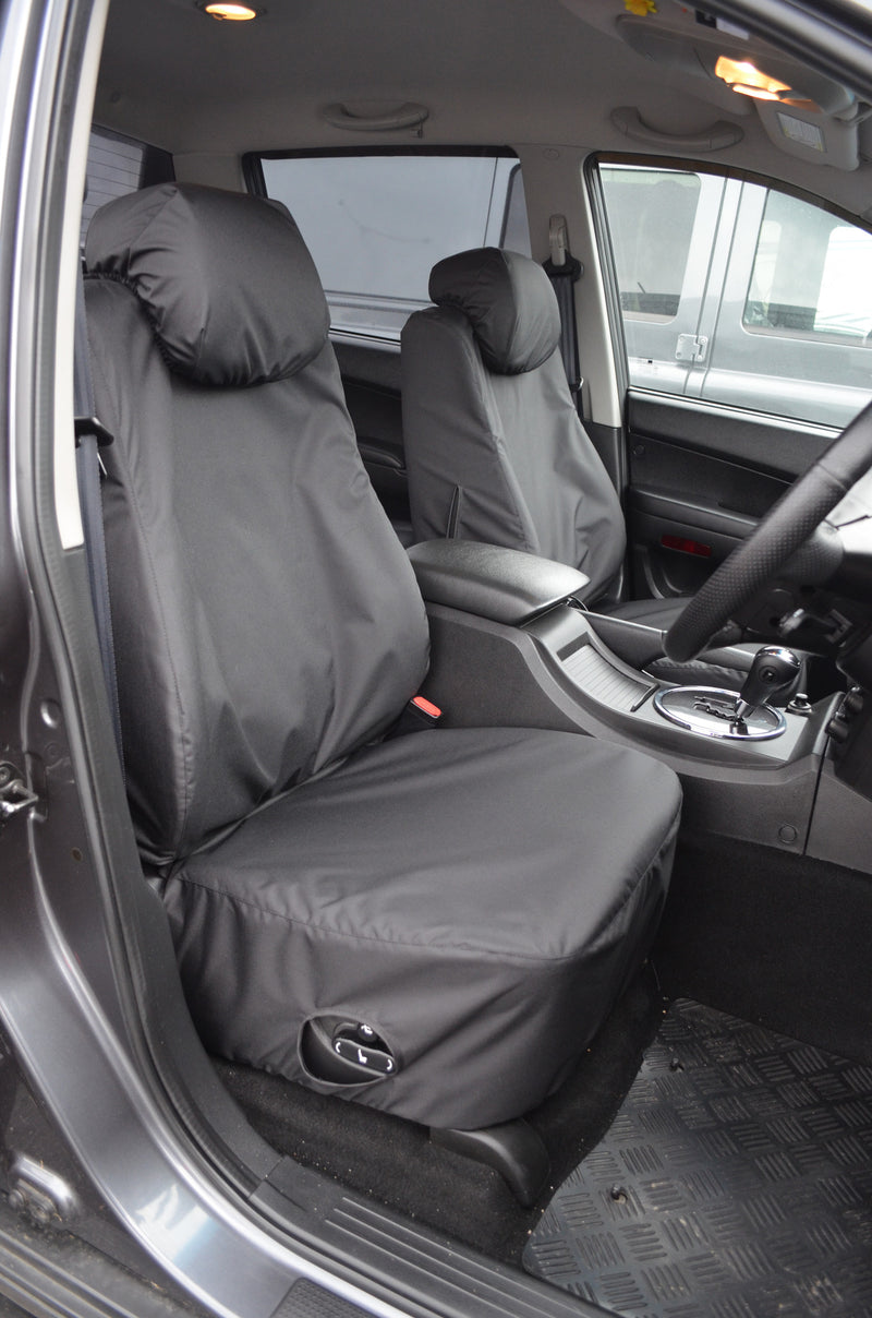 SsangYong Korando Sports/Musso 2012 Onwards Tailored Seat Covers Front / Black Turtle Covers Ltd