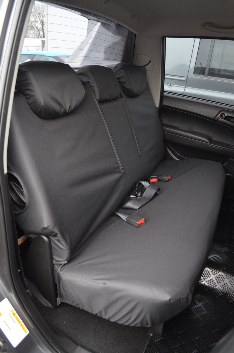 SsangYong Korando Sports/Musso 2012 Onwards Tailored Seat Covers Rear / Black Turtle Covers Ltd