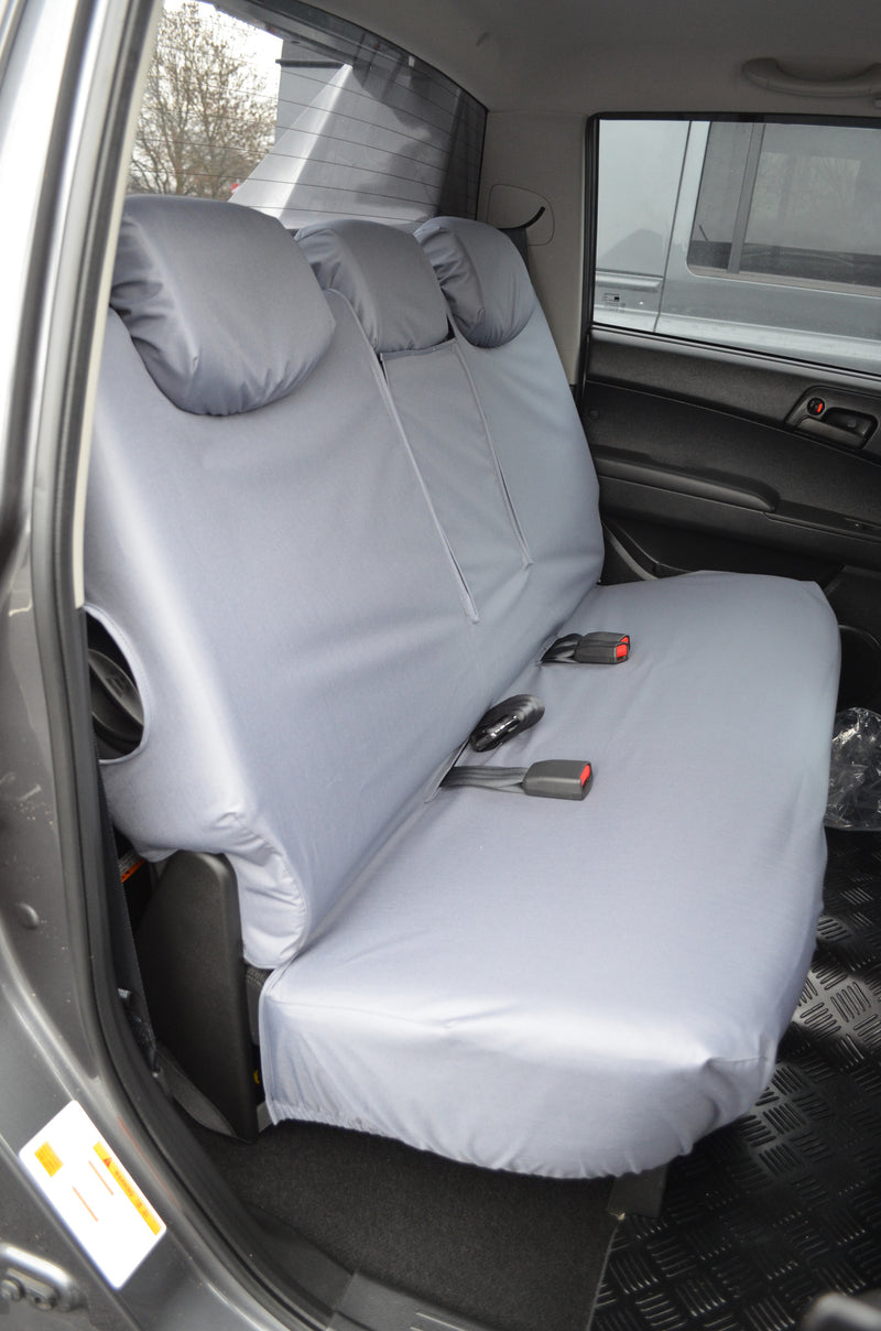 SsangYong Korando Sports/Musso 2012 Onwards Tailored Seat Covers Rear / Grey Turtle Covers Ltd