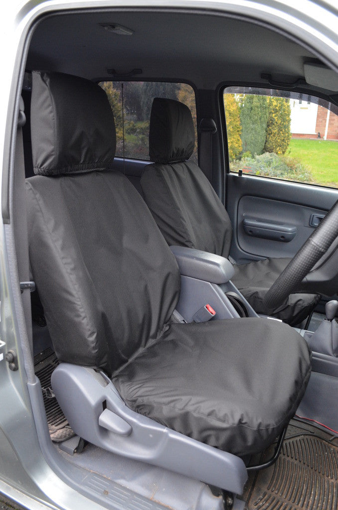 Toyota Hilux 2002 - 2005 Seat Covers Front Seat Covers / Black Turtle Covers Ltd