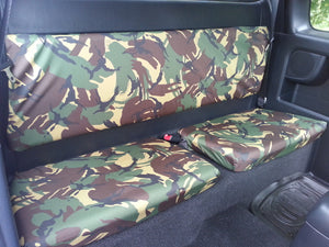 Toyota Hilux 2005 - 2016 Seat Covers Front & Extra Cab Rear / Green Camouflage Turtle Covers Ltd