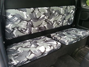 Toyota Hilux 2005 - 2016 Seat Covers Front & Extra Cab Rear / Urban Camouflage Turtle Covers Ltd