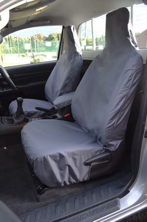 Toyota Hilux Single Cab 2016+ Tailored Seat Covers Grey / Front Pair Turtle Covers Ltd