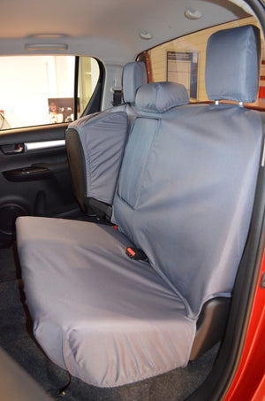 Toyota Hilux Invincible 2016+ Tailored Seat Covers Rear Seat Covers / Grey Turtle Covers Ltd