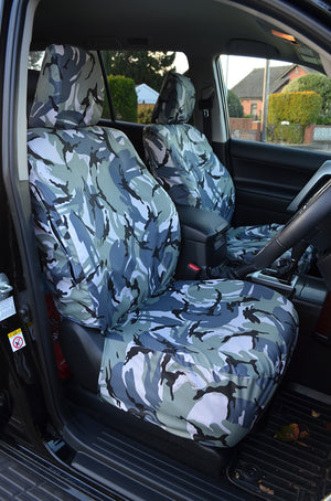 FRONT BLUE BLACK FABRIC SEAT COVERS FOR RENAULT ESPACE KANGOO TRAFIC MASTER