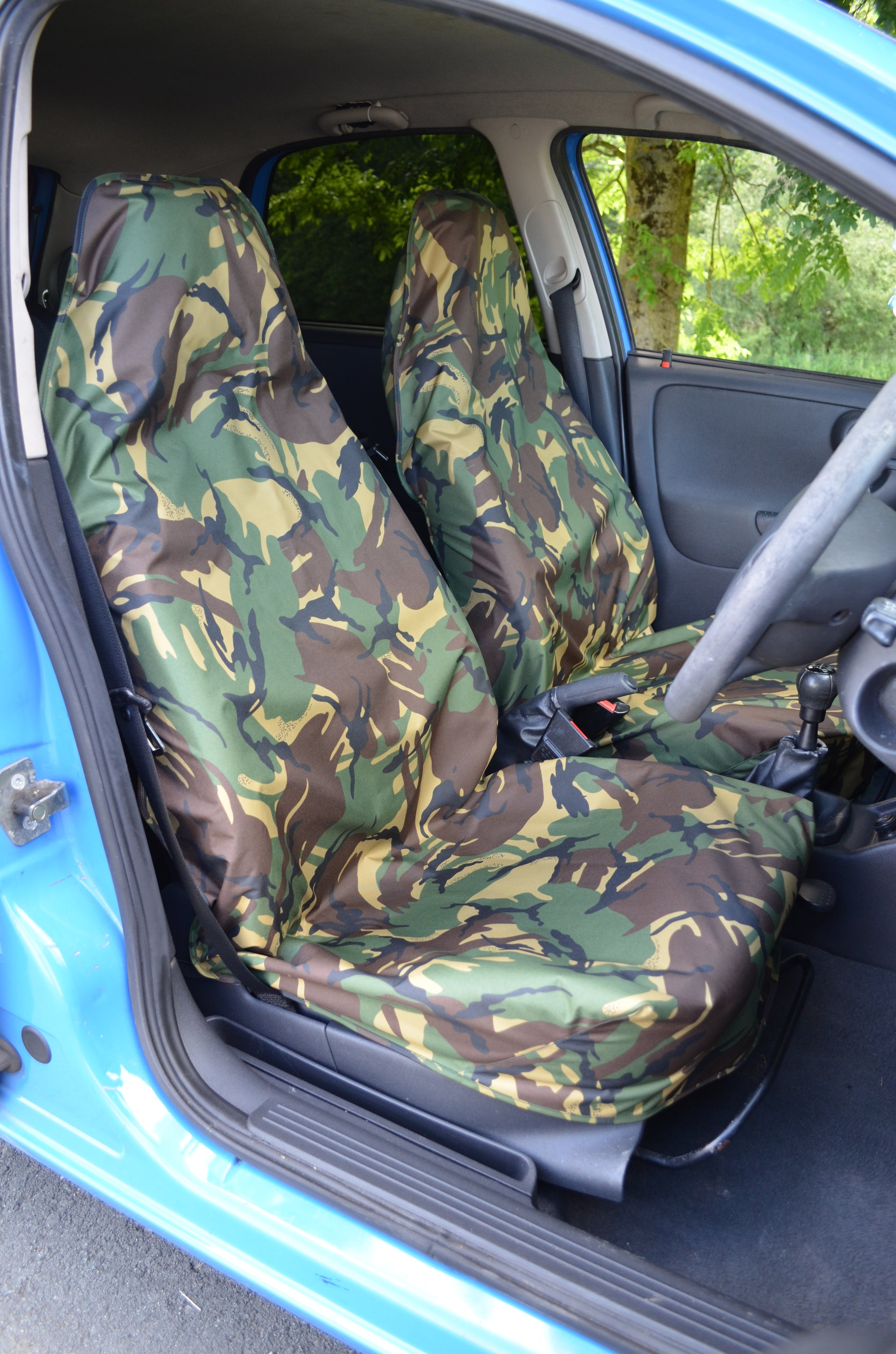VW TRANSPORTER T4 T5 T6 Green CAMO Camouflage Waterproof VAN Seat Covers 2+1