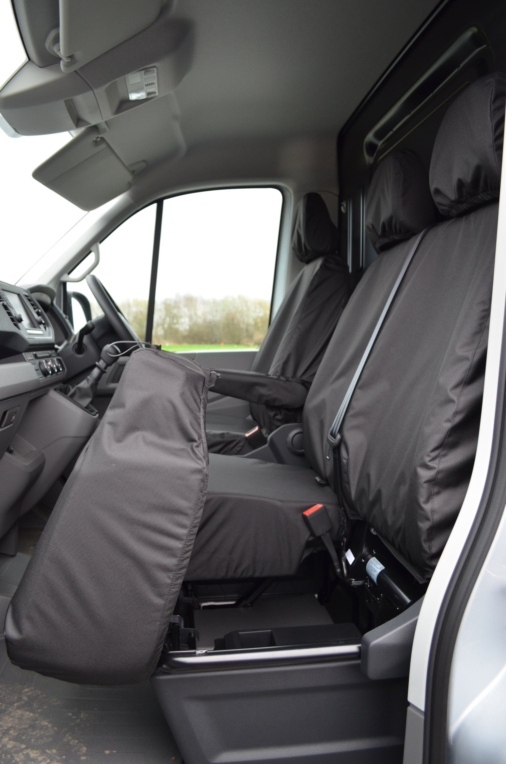 VW CRAFTER 2017 2018 2019 ARTIFICIAL LEATHER EMBOSSED TAILORED SEAT COVERS