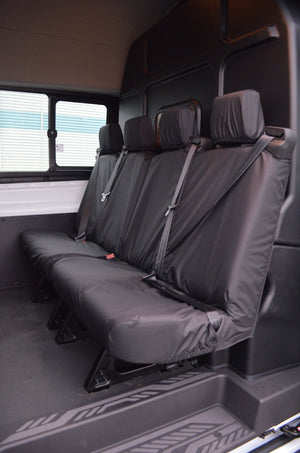 Ford Transit 2014+ Tailored & Waterproof Rear Seat Covers Black / 4-Seater (2 Pairs) Turtle Covers Ltd