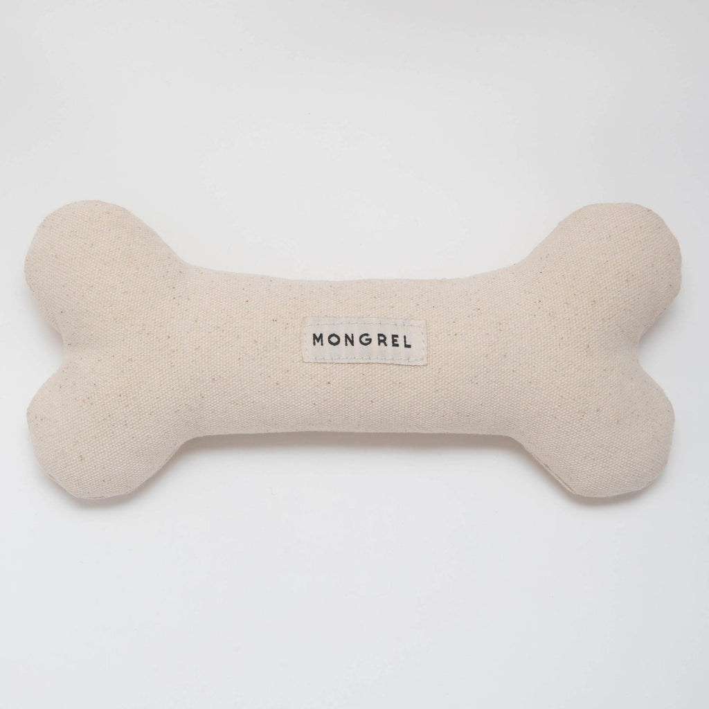 Product imagery for unbleached dog bone from Mongrel London