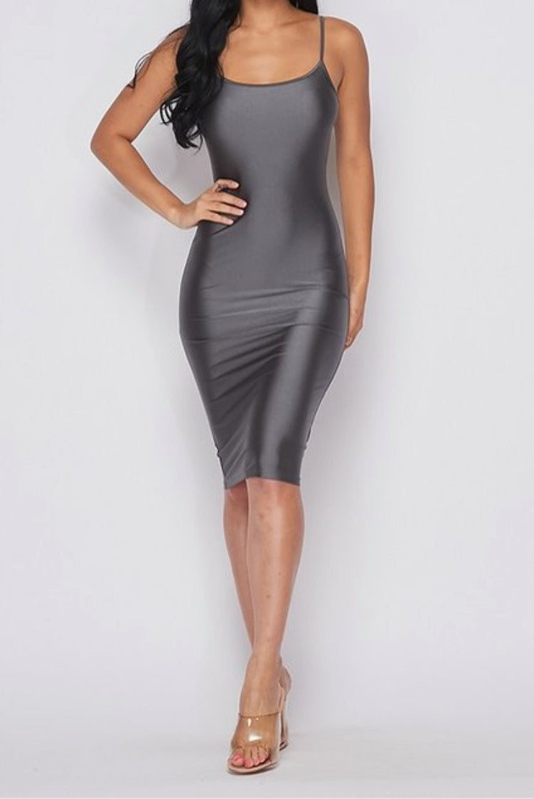 """Satin Sadi"" Mini Dress"