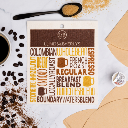 L&B Coffee Swedish Dishcloth - Lunds & Byerlys Gifts