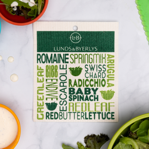 L&B Leafy Greens Swedish Dishcloth - Lunds & Byerlys Gifts