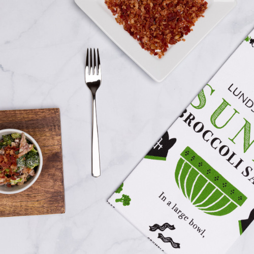 L&B Sunny Broccoli Recipe Towel - Lunds & Byerlys Gifts