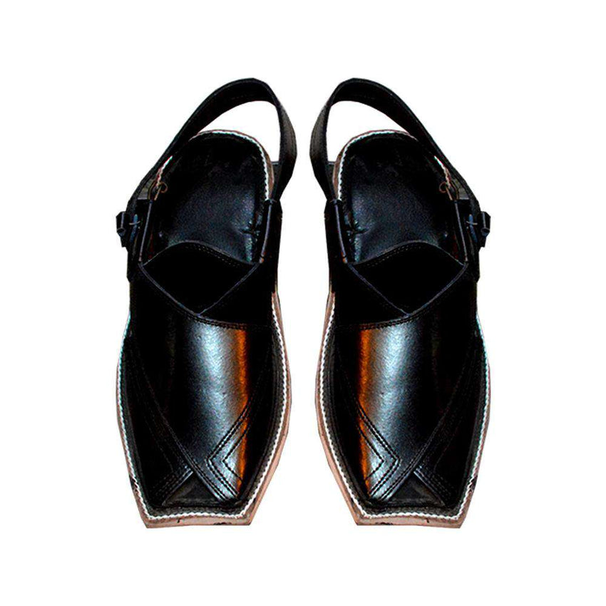 Black Stylish Peshawari Chappal