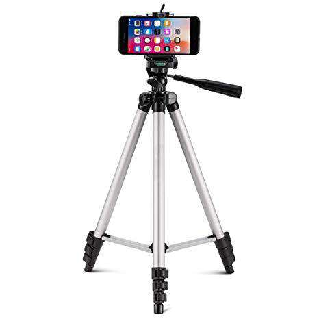 Tripod Stand with Mobile Clip White