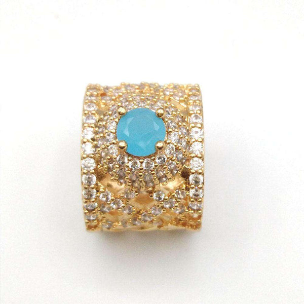 Blue Zircon Stone Ring For Women