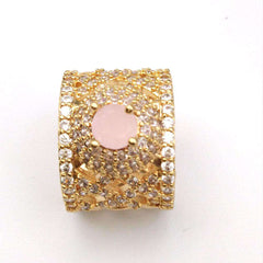 Stylish Pink Crystal Ring For women