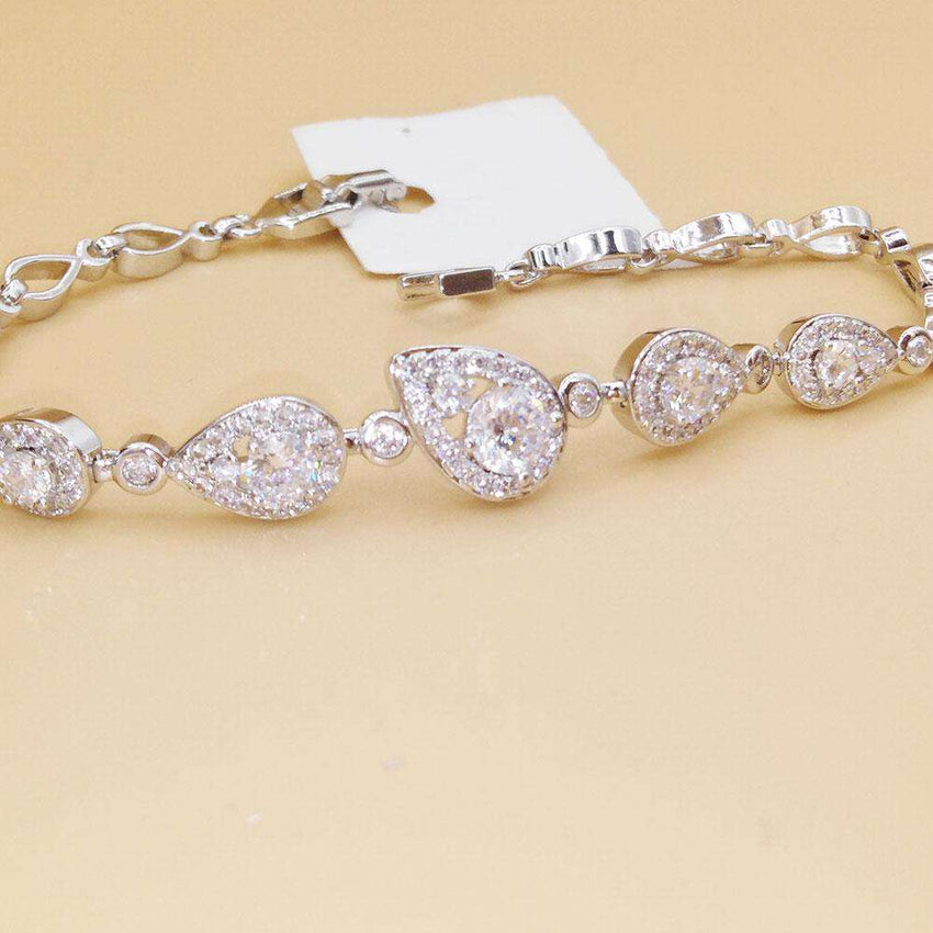 Silver crystal Bracelet For Girls