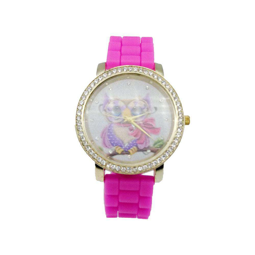 Tagged Analog Pink Dial Watch