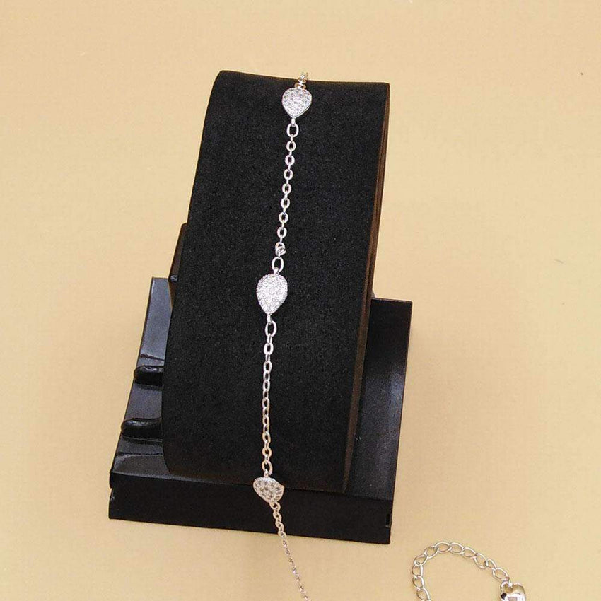 Single Stone Hot Bracelet For Girls