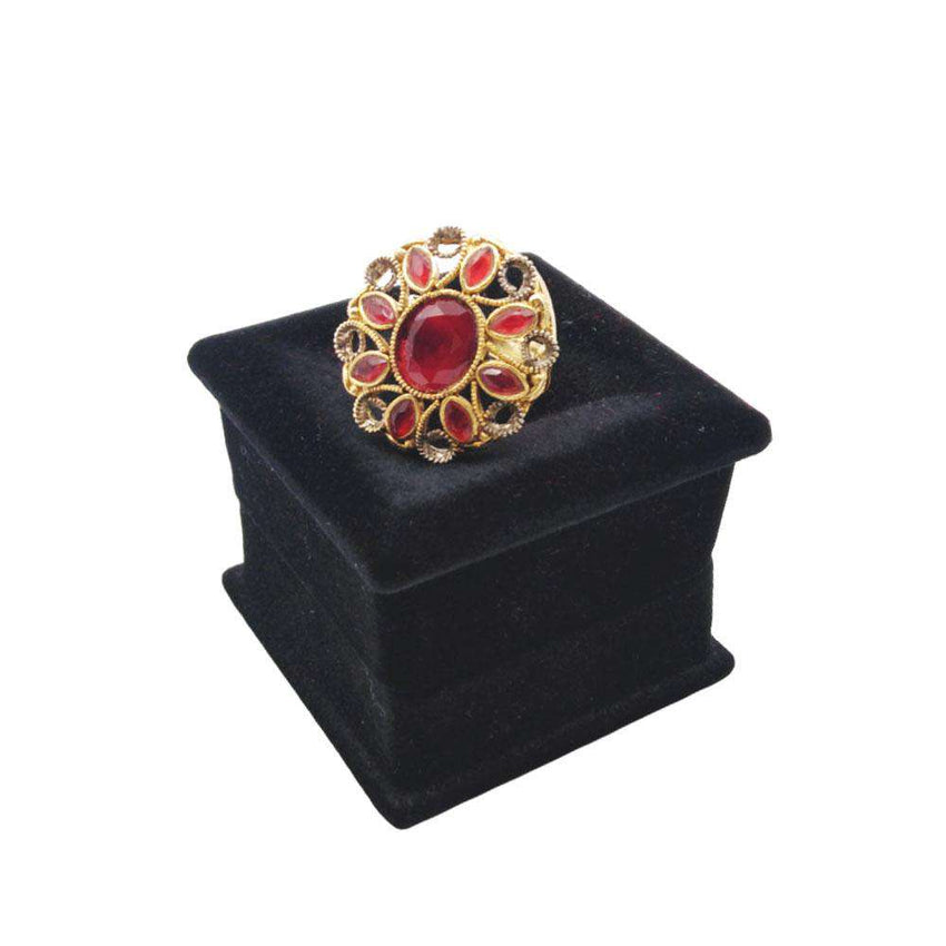 Red Zircon Ring