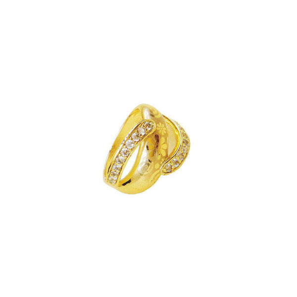Yellow Zircon Stone Ring For Women