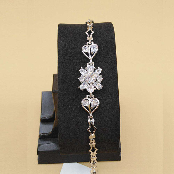 Stylish Flower Crystal Shape Bracelet