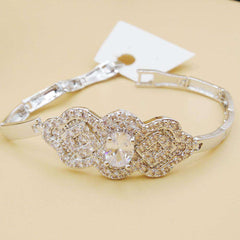 White Zircon Crystal Bracelet For Girls