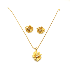Gold Color Clear Crystals  Jewelry Sets