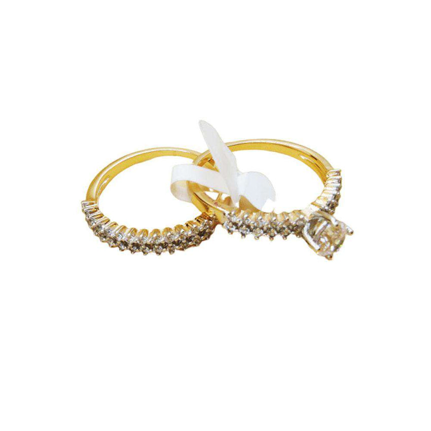 Double Tone Stylish Ring For Women