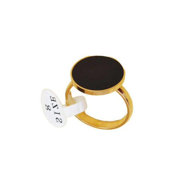 Black Zircon Stone Ring For Men