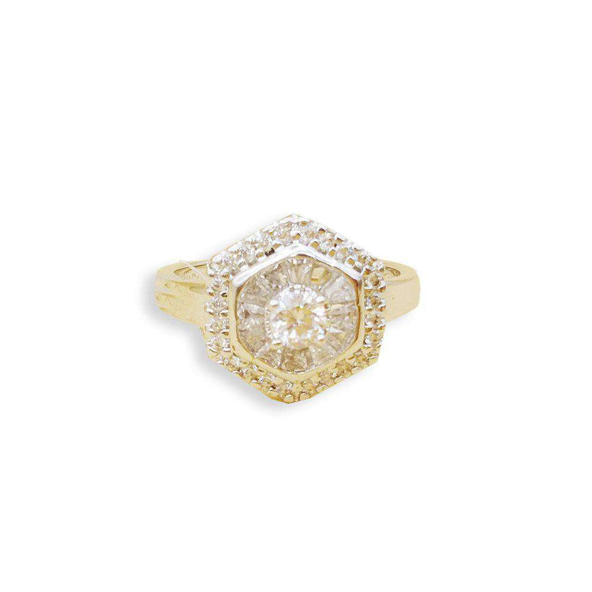 Big Stylish Crystal Ring For Girls