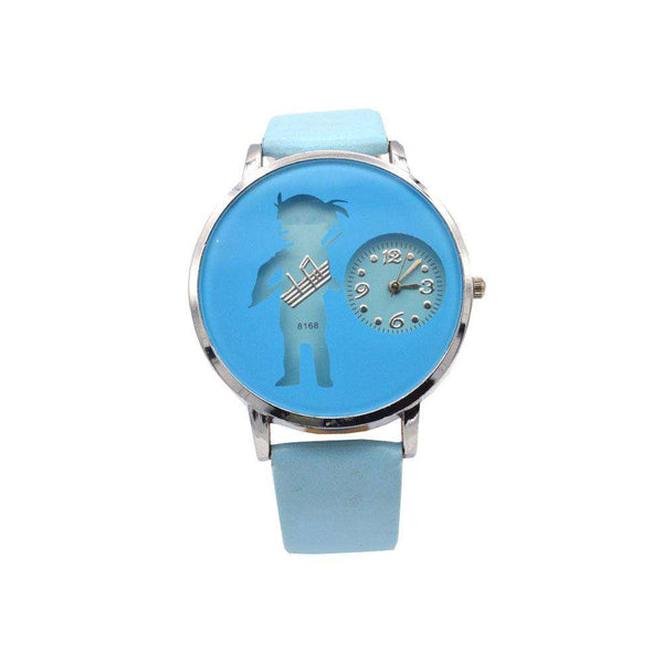 Sky Blue Strap Watch For girls