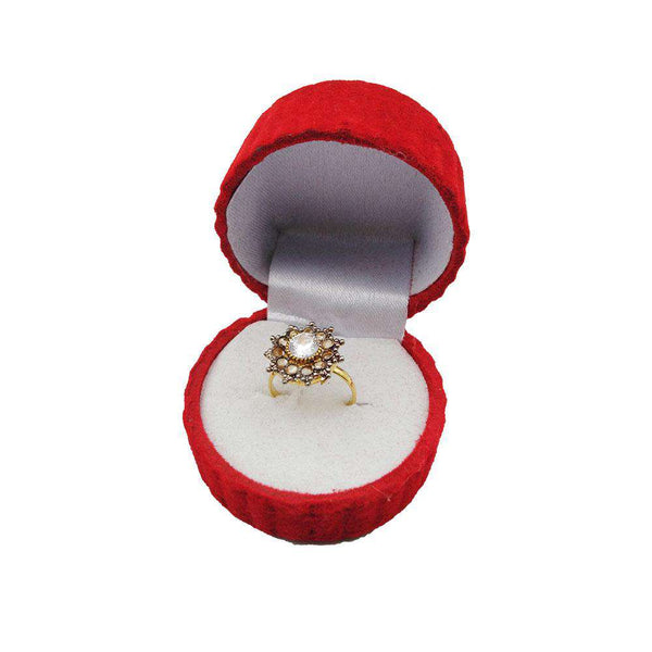 White Crystal Stone Gold Ring