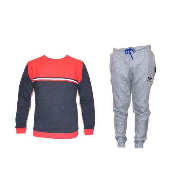Red&Blue Sweat Shirt&Trauser