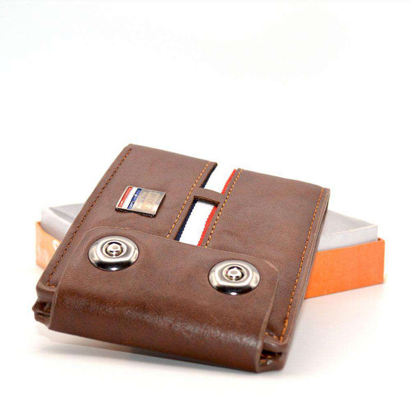 Leather and Strap Wallet For Men
