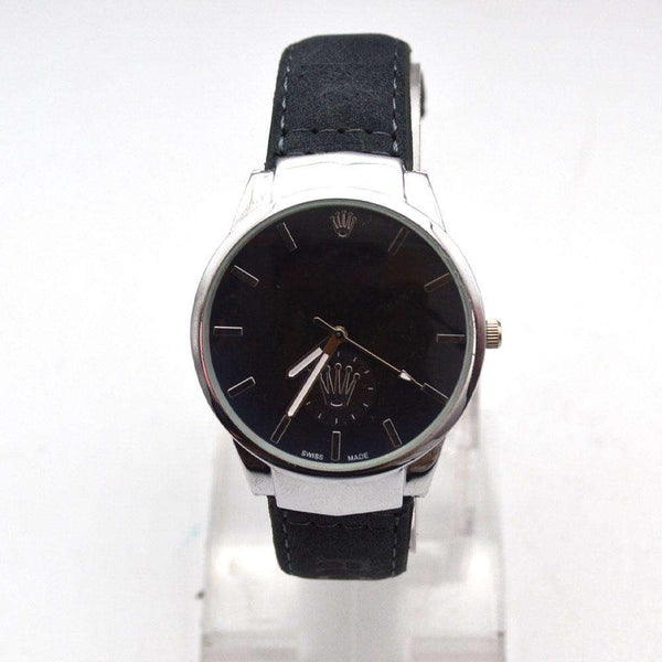 Stylish Black Strap Watch