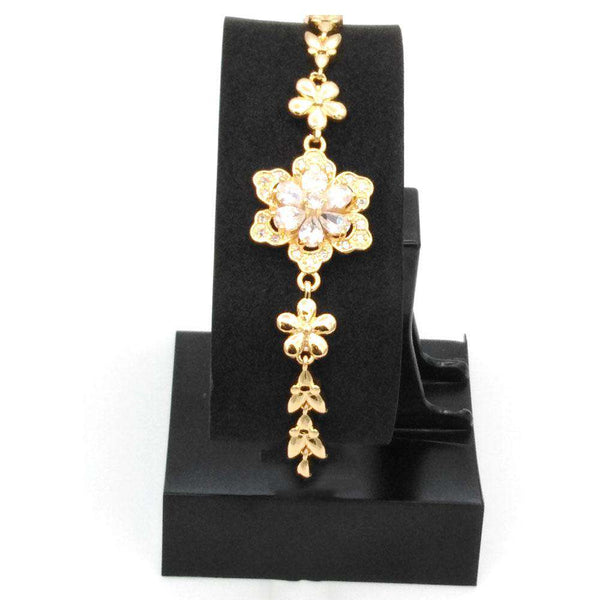 Flower Design Golden Color Bracelet