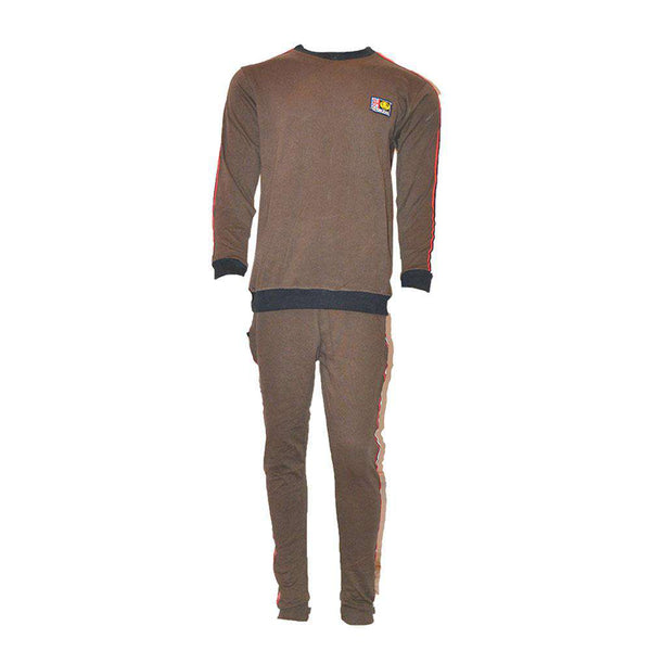 Round Neck Brown Track Suit For Mens