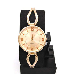 Pink Gold Dial Watch For Women
