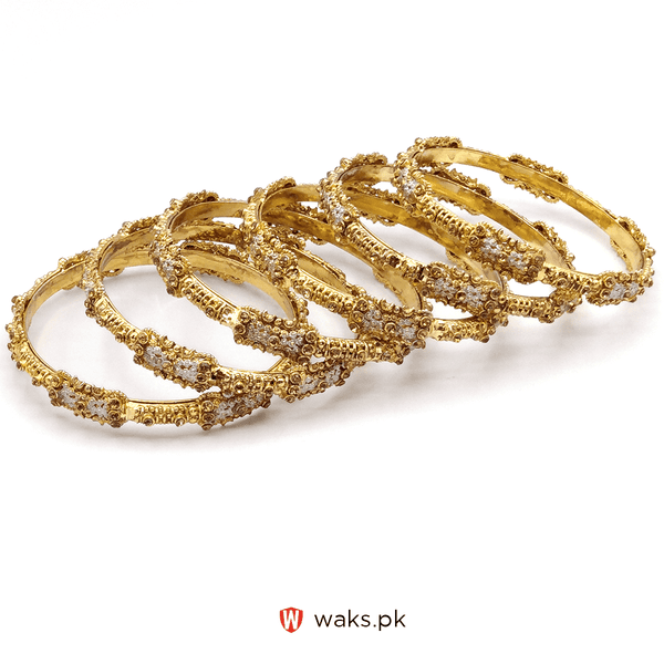 Stylish Kara Set of 6 - Golden