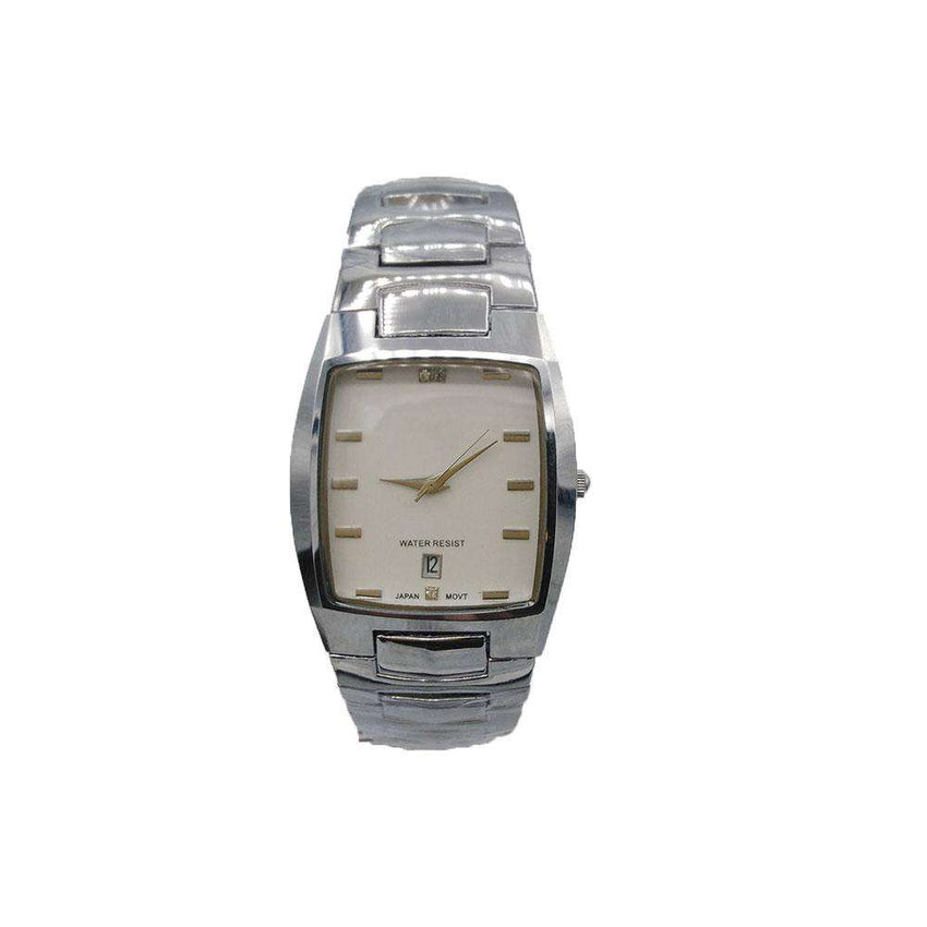 Silver Classic Dial Watch For Mens