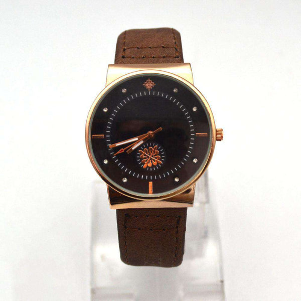 Stylish Brown Strap Watch