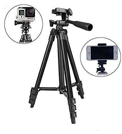 Tripod Stand with Mobile Clip (Black)