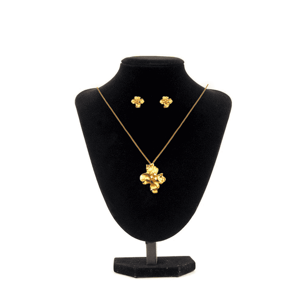 Gold Jewelry Sets Necklace and Earrings