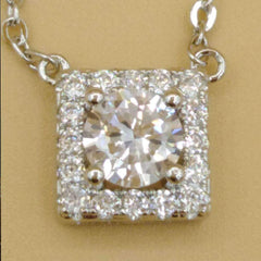Crystal Square Design Pendant
