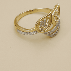 Double Leaves Style Ring