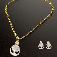 Stylish White Crystal Jewelry Set For Girls
